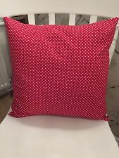 """Rose & Hubble Deep Red 3mm Polka Dot Spotty Cushion Cover 16"""" Shabby Chic"""