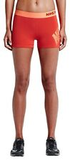 NIKE PRO dri fit SHORTS SIZE MEDIUM ACTIVE NEON orange / peach ANIMAL LOGO PRINT