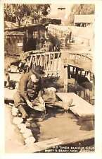 Knotts Berry Farm California Old Timer Paning Gold Real Photo Antique PC J45442