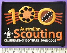 Scouts Australia - 100 Years of Scouting Badge, 1908 - 2008 (Black version) MINT