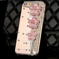 Fashion Pink flowers Pearl Back Hard case Cover Skin For Apple iphone 6 6S 4.7""