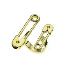 Vintage Gold Plated Double Safety Pins Finger Ring Jewelry Charm Women Punk Gift