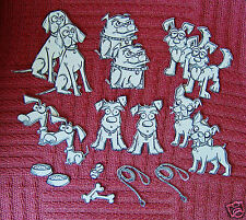 CRAZY DOGS STAMPED DIE CUTS -TIM HOLTZ . 12 dogs and accessories