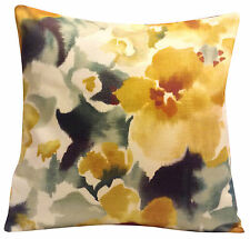 Sanderson Varese Autumn Gold & Spearmint Cushion Cover 16""