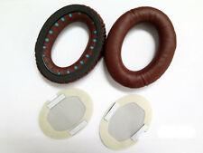 LEATHER Ear cushion PADS PER BOSE QC2 QC15 AE2 BROWN NUOVO