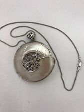 Beautiful Large 925 Sterling Silver Statement Shell Pendant Necklace Chain