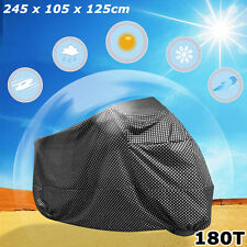Dotted Pattern Universal UV Waterproof Motorcycle Rain Dust Storage Cover XL