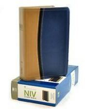 **NIV 2011 Study Bible -Tan/ Blue Leathersoft  *8pt* Full Color -NEW !!  ON SALE