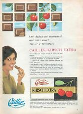▬► PUBLICITE ADVERTISING AD chocolate chocolat CAILLER KIRSCH EXTRA