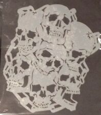 7 Skulls With Chain Design reusable Mylar stencil For Airbrush design art tattoo