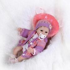 """18"""" Handmade Lifelike Reborn Doll Silicone Baby Girl Doll Vinyl Newborn Boy Doll"""