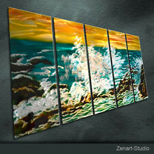 Original Metal Wall Art Abstract Painting Sculpture Indoor Outdoor Decor-Zenart