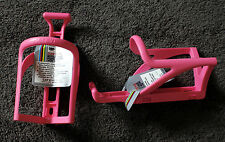 2 Cateye Water Bottle Cages - Model BC-100 - NOS - Fixed Gear - Vintage - Pink