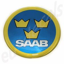 50mm/2.00inc.SAAB Swedish Air Force Aero Hood Emblem Badge 9-5 9-3 93 3D decal