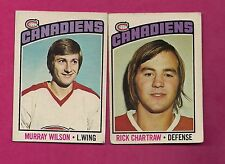 1976-77 OPC CANADIENS RICK CHARTRAW + MURRAY WILSON  CARD  (INV# 7429)