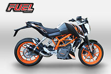 2011+ KTM Duke 390 F1R Race Negro Acero Estilo Moto Gp Pista Escape-Loud!