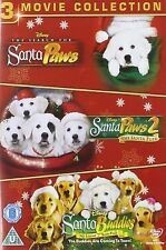 SANTA BUDDIES TRILOGY DVD Original Walt Disney Dog Paws 1 and 2 3 Movie Film New