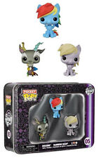 My Little Pony Pocket pop! tinbox dreierset Discord Rainbow Dash Derpy