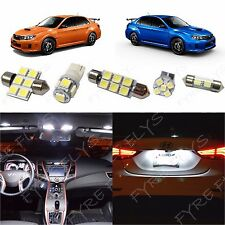 6x White LED lights interior package kit for 2004 & Up Subaru WRX SW1W