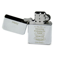Personalised Silver Cigarette Lighter Gift Idea for Men Smokers P0103A89