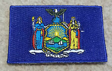 NEW YORK STATE FLAG PATCH United States of America Embroidered Badge 6 x 9cm USA