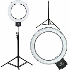 "Diva Ring Light Nebula 18"" LED Dimmable Photo/Video Ring Light w/ 6' Light Stand"