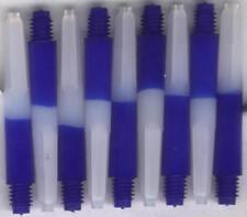 1.5in. 2ba Blue/White Nylon Dart Shafts: 6 per order