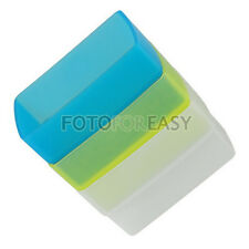 White+Blue+Yellow Flash Diffuser Kit for Canon 430EX II