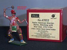 Britains 47053 Redcoats nativo americano Huron Guerrero De Metal Figura Soldado De Juguete