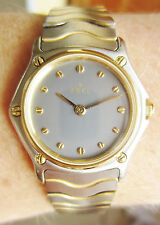 Ladies SS + 18k Gold Ebel Swiss Quartz Bracelet Watch Serviced 6mth warranty