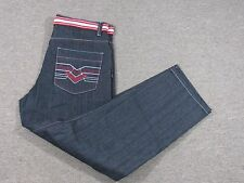 NEW Jinzu Men's BAGGY Black Gray with Red Lining Belted Jeans 39 38x32 NWT 69.99