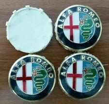 Set of 4pcs Alfa Romeo 60mm HUB CAPS classic emblem logo 159, Mito, Giulietta