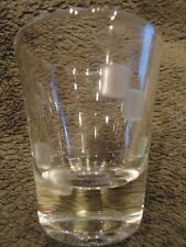 "Shot Glass Etched Glass Blocks Jigger Clear 2-1/2 ""t Vintage"