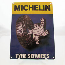 MICHELIN TYRES Print On Metal Sign For Garage Man cave Den Bedroom Plaque Dealer