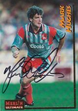 CHELSEA MARK HUGHES HAND SIGNED MERLIN ULTIMATE TRADING CARD.