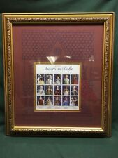 "1999 Classic American Dolls Series - USPS Collectible Stamps Framed 15""x17"""