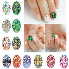 Rainbow Nail Art Wrap Foils Glitter Transfer Sticker Decal DIY Gel Tips