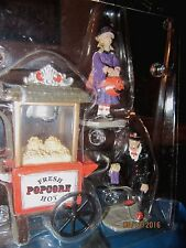 "TRAIN VILLAGE HOUSE CARNIVAL "" HALLOWEEN HOT POPCORN CART "" +DEPT 56/LEMAX info!"