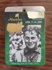 2002 USED MASTERS GOLF BADGE~COLLECTORS ITEM~VERY RARE TICKET~TIGER WOODS!!