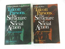 Talcott Parsons THE STRUCTURE OF SOCIAL ACTION 2 Vols Free Press Paperbacks