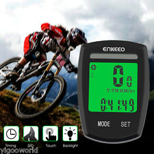 NEW LCD Solar Power Bicycle Odometer Bike Bicycle Computer Speedometer Pedometer