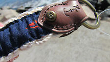 NEW POLO Ralph Lauren flag key fob chain gift box nautical leather anchor ring