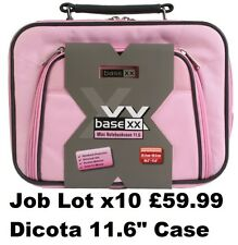"Job Lot Wholesale x10 Dicota Laptop Carry Case Notebook Shoulder Bag 11.6"" Pink"