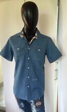 ROLLING PAPER NYC Size Light Blue Medium  Casual Shirt 100% Cotton