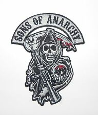 Sons Of Anarchy Grim Reaper Logo Embroidered Iron On Sew On Biker Patch Badge
