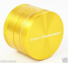 Cali Crusher Herb, Spice & Tobacco Grinder 2 Inch 4 Piece Aluminum New Gold