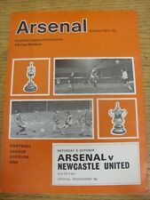 09/10/1971 Arsenal v Newcastle United  (token removed). Condition: Listed previo