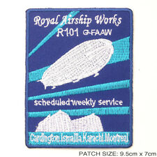 "R101 Royal Airship Works ""Zeppelin"" - Embroidered Iron-On Patch!"