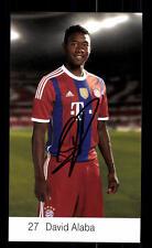 David Alaba Autogrammkarte Bayern München 2014-15 Original Signiert+ C 2629