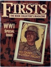 FIRSTS: THE BOOK COLLECTOR'S MAGAZINE (Sept. 2002) World War I Special Issue